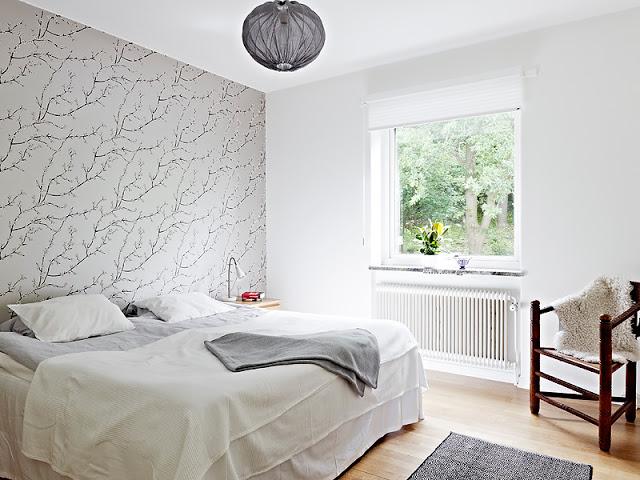 Bedroom Wallpaper Light Grey